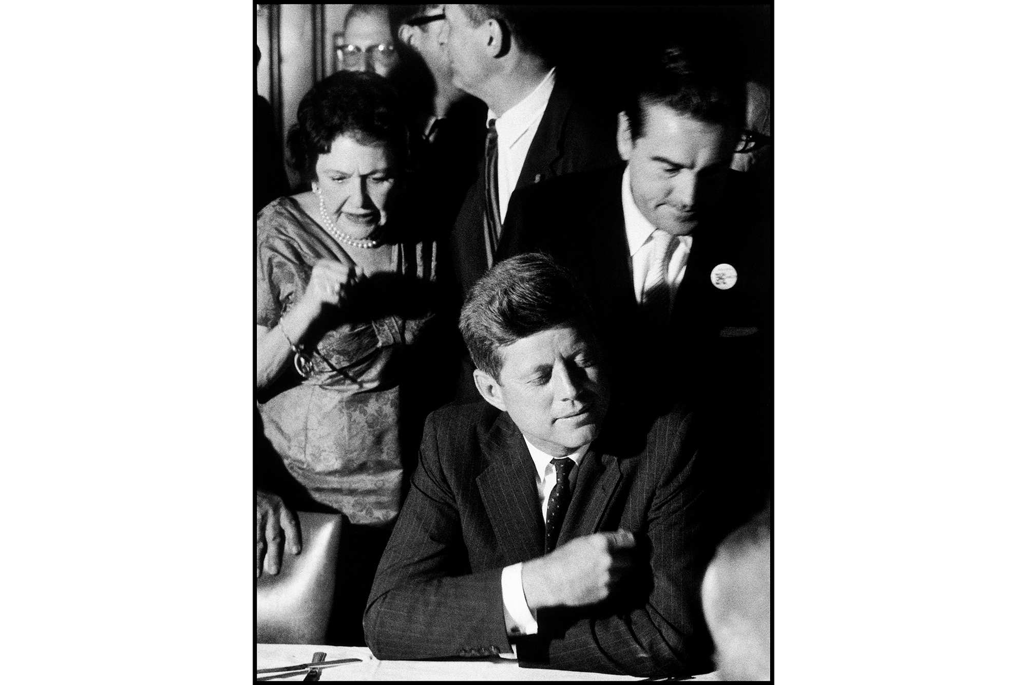 Senator John F. Kennedy at the Democratic National Convention which would nominate him for President in Los Angeles in 1960. | <span>Elliott Erwitt/Magnum</span>