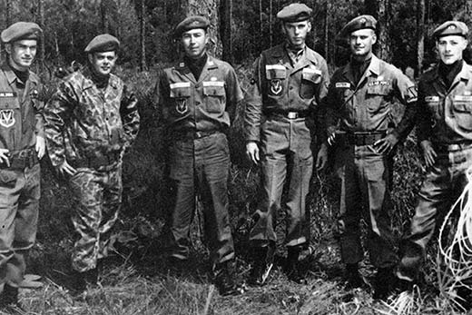 Captain Grimes with special warfare airmen in 1964.