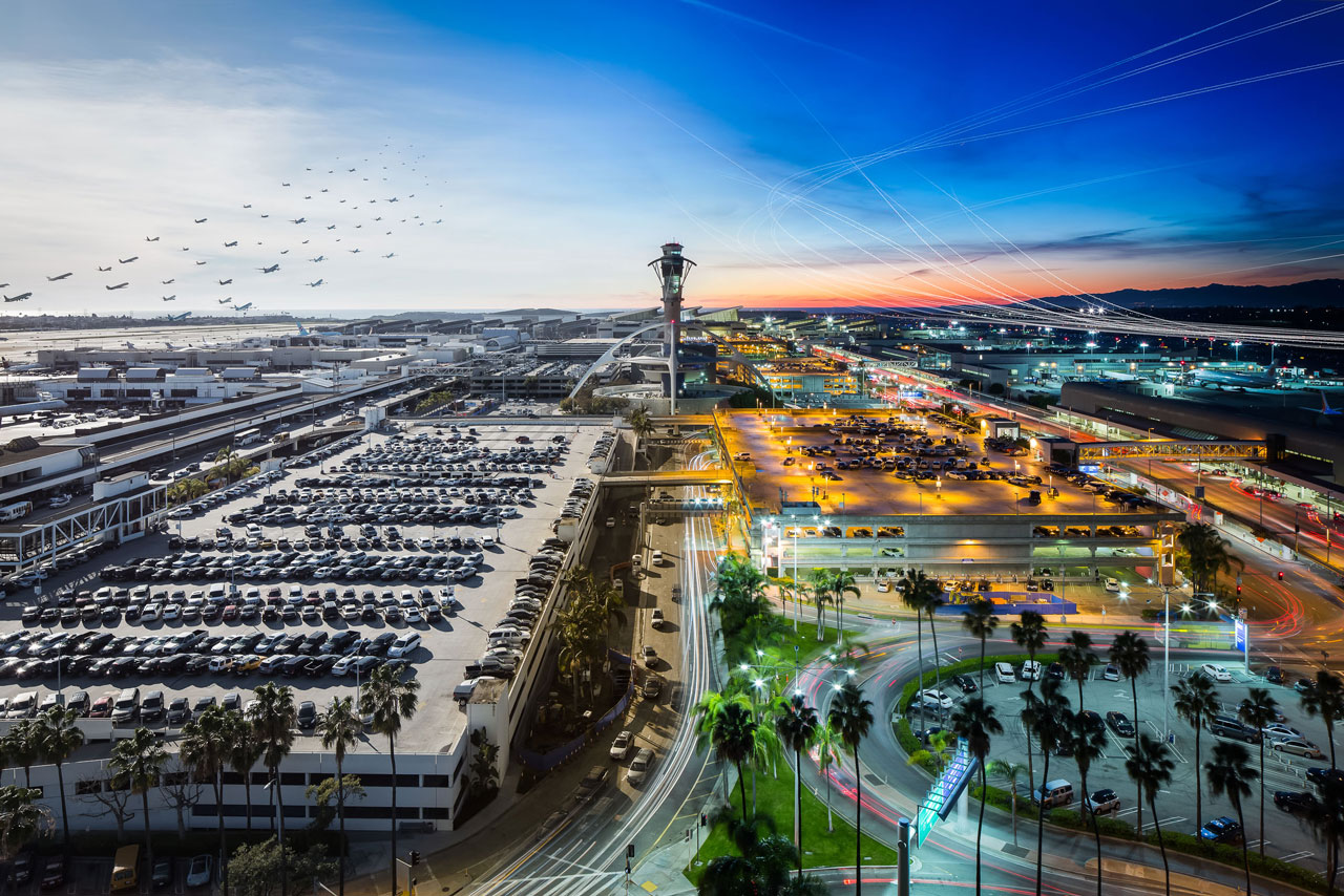 12 hours of activity at Los Angeles International Airport.