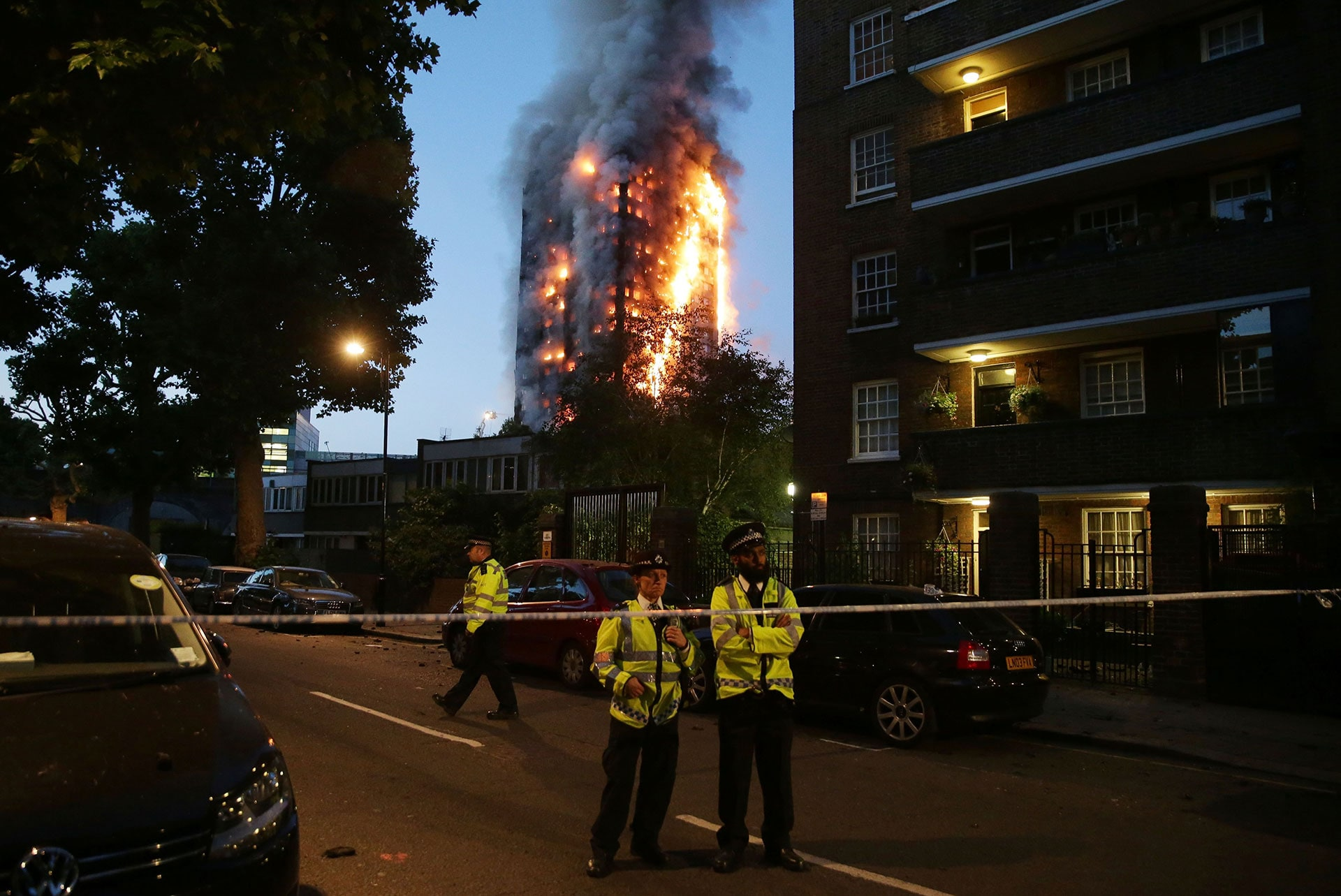 Fire engulfs the Grenfell Tower