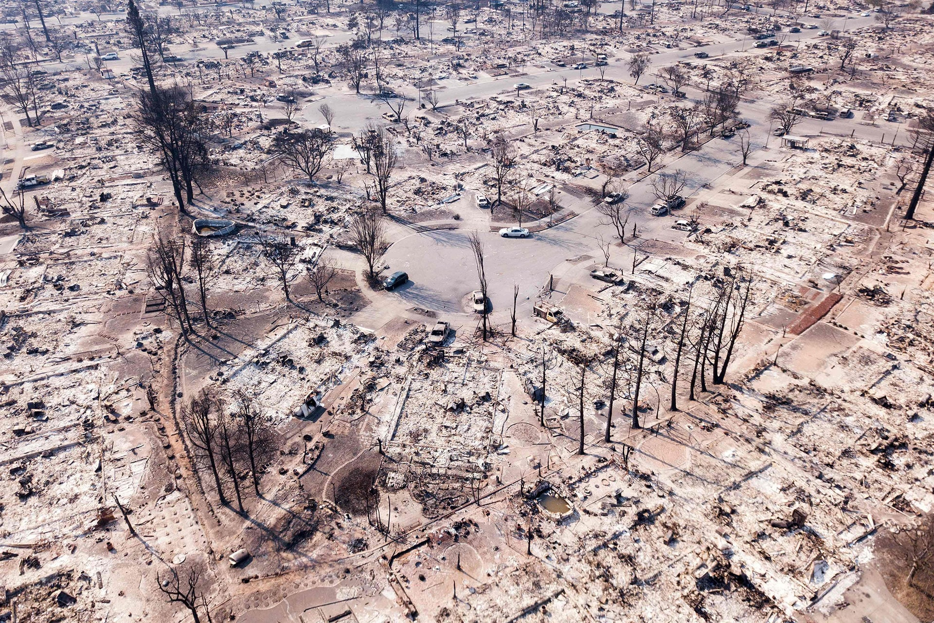 The Coffey Park neighborhood was destroyed as wildfires swept through Santa Rosa, California