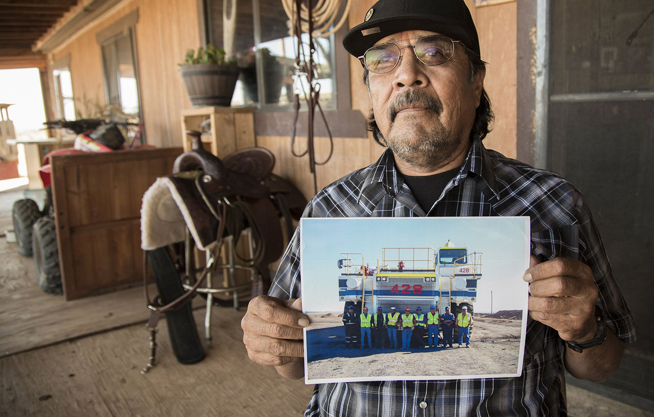 """How are people going to stay warm in the winter? Coal is what keeps them warm,"" says Lawrence Gilmore, a  truck driver at Kayenta Mine. ""They don't look at the health hazard. Out here it's about poverty and hunger."""