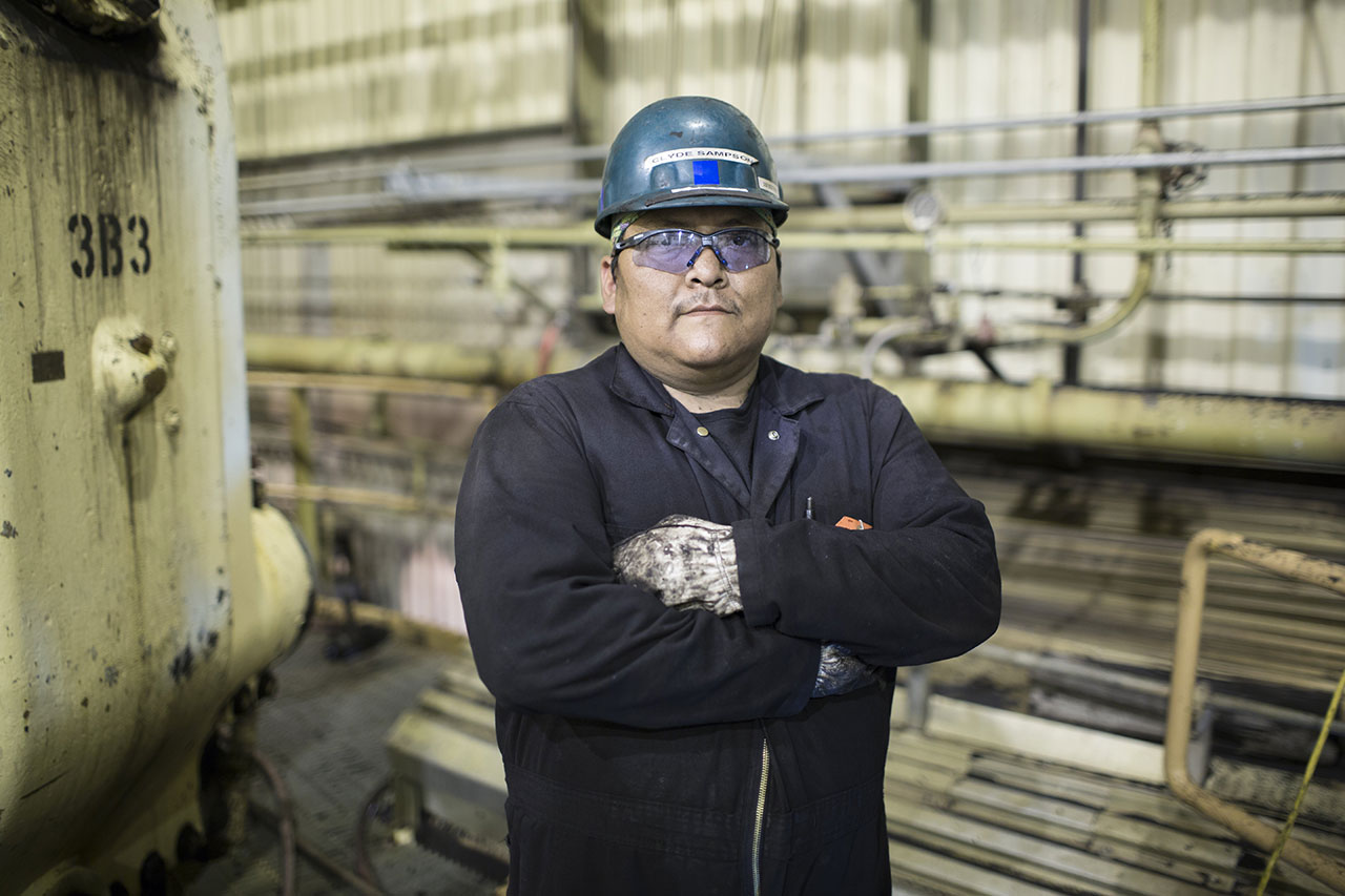 Clyde Sampson has been a maintenance mechanic at the Navajo Generating Station for five years. Like many of the other workers there, Sampson says a shutdown might force him to hit the road to find work.