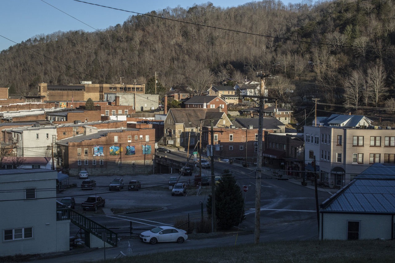a view of downtown Whitesburg