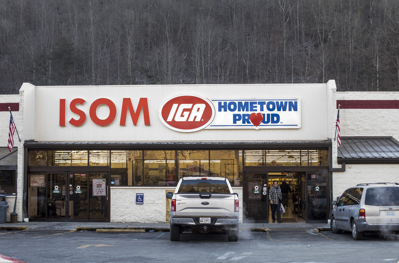 customer leaves the Isom IGA