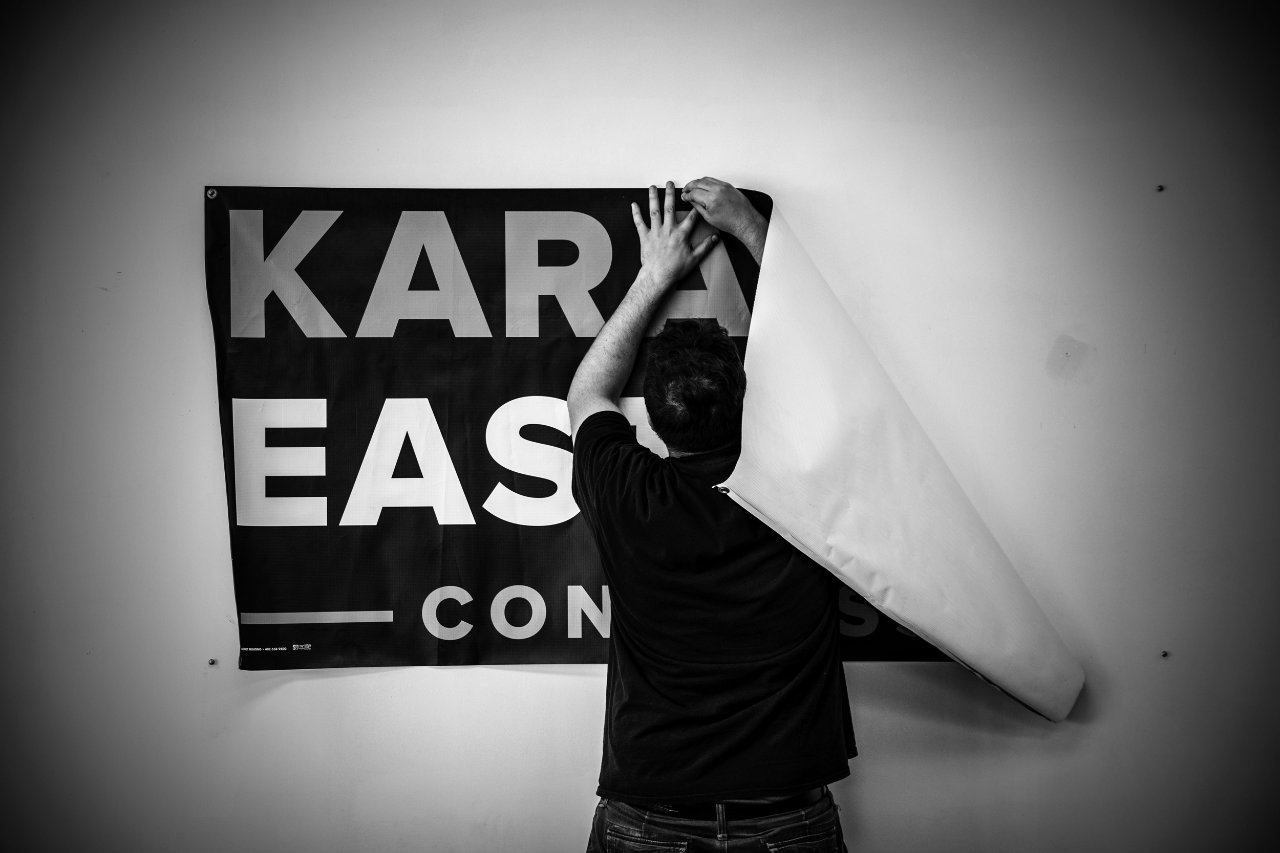 Inside the Omaha, Nebraska, headquarters of Kara Eastman.
