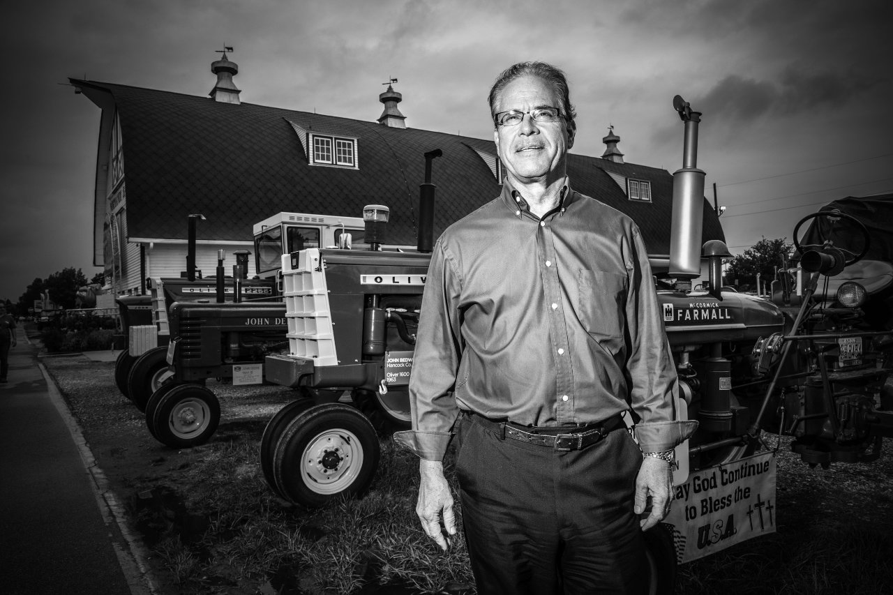 Mike Braun at the Indiana State Fair in Indianapolis.