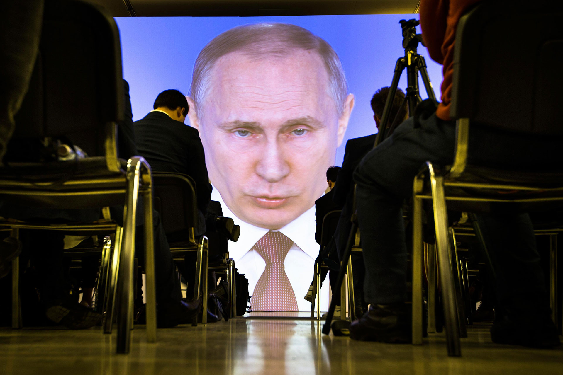Russian President Vladimir Putin delivers his annual state of the nation address