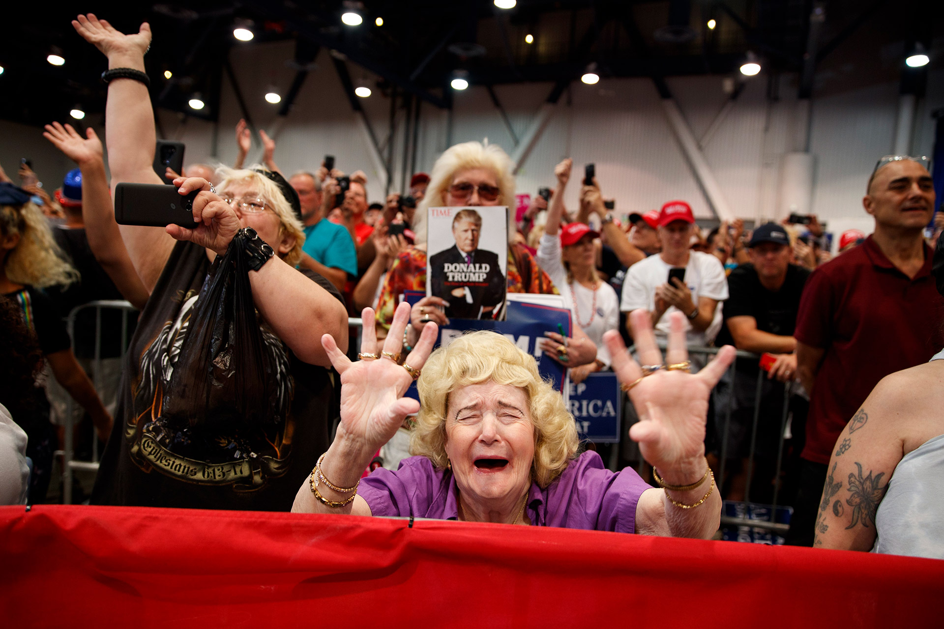 Supporters of President Donald Trump cheer