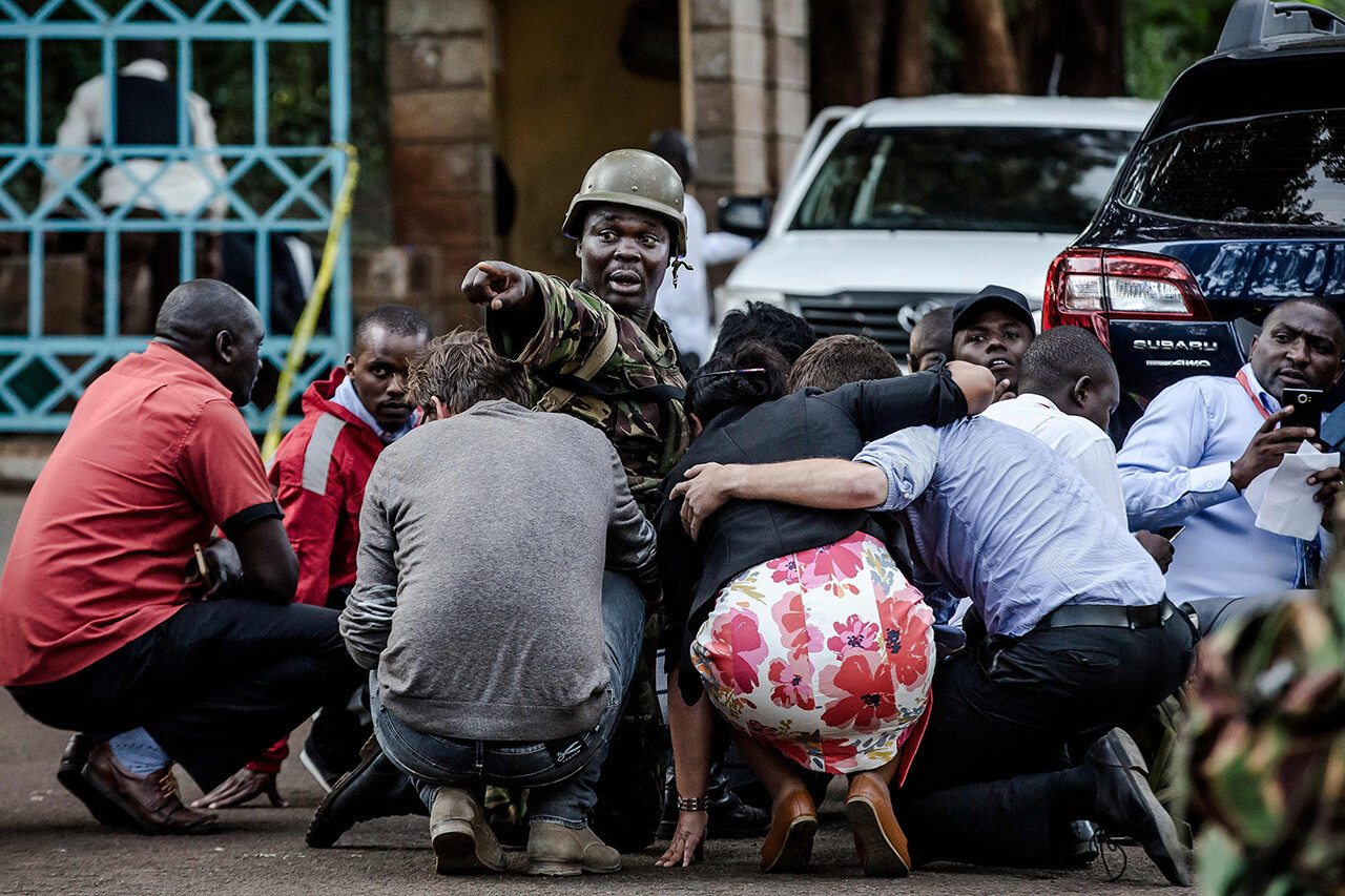 "Special forces protect people <a href=""https://www.nbcnews.com/news/world/nairobi-kenya-hotel-office-complex-rocked-explosions-gunfire-n958736"">after a bombing</a> in Nairobi, Kenya, on Jan. 15."