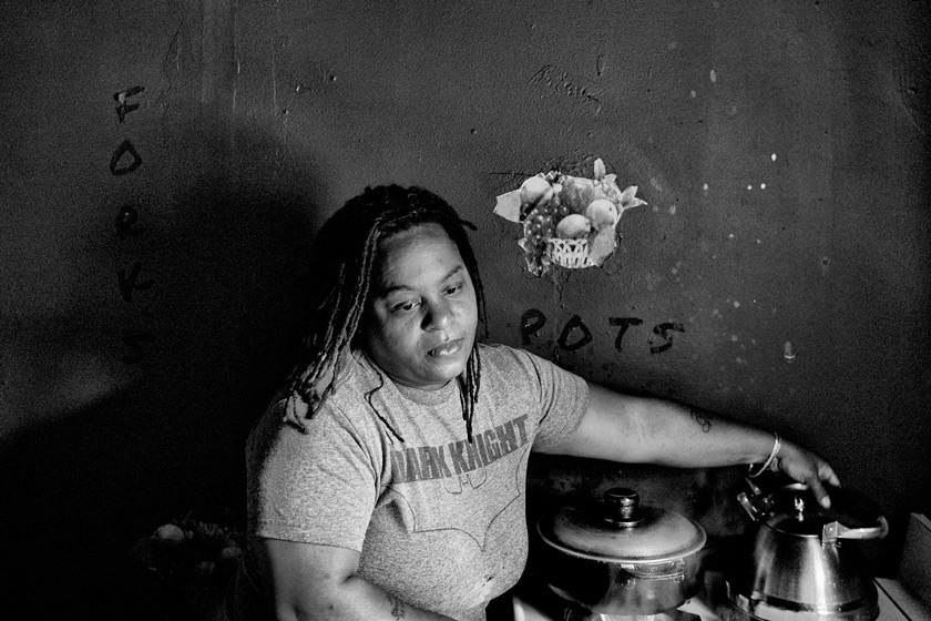 Dawn Hawkins cooks at home
