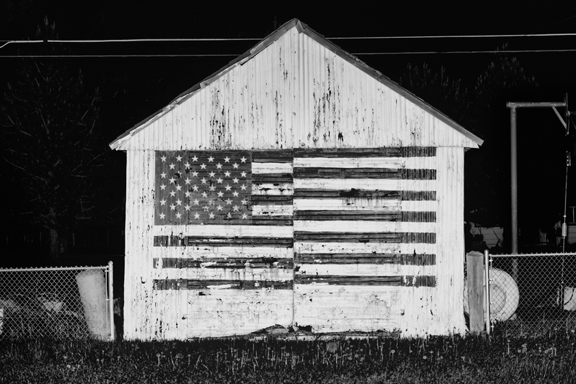 Faded glory, chipping away on this shed in Harney County, Oregon.