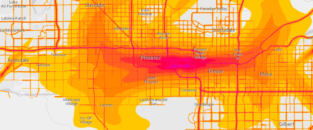 Use These Maps To See How Noisy Your Neighborhood Is NBC News - Phoenix in us map
