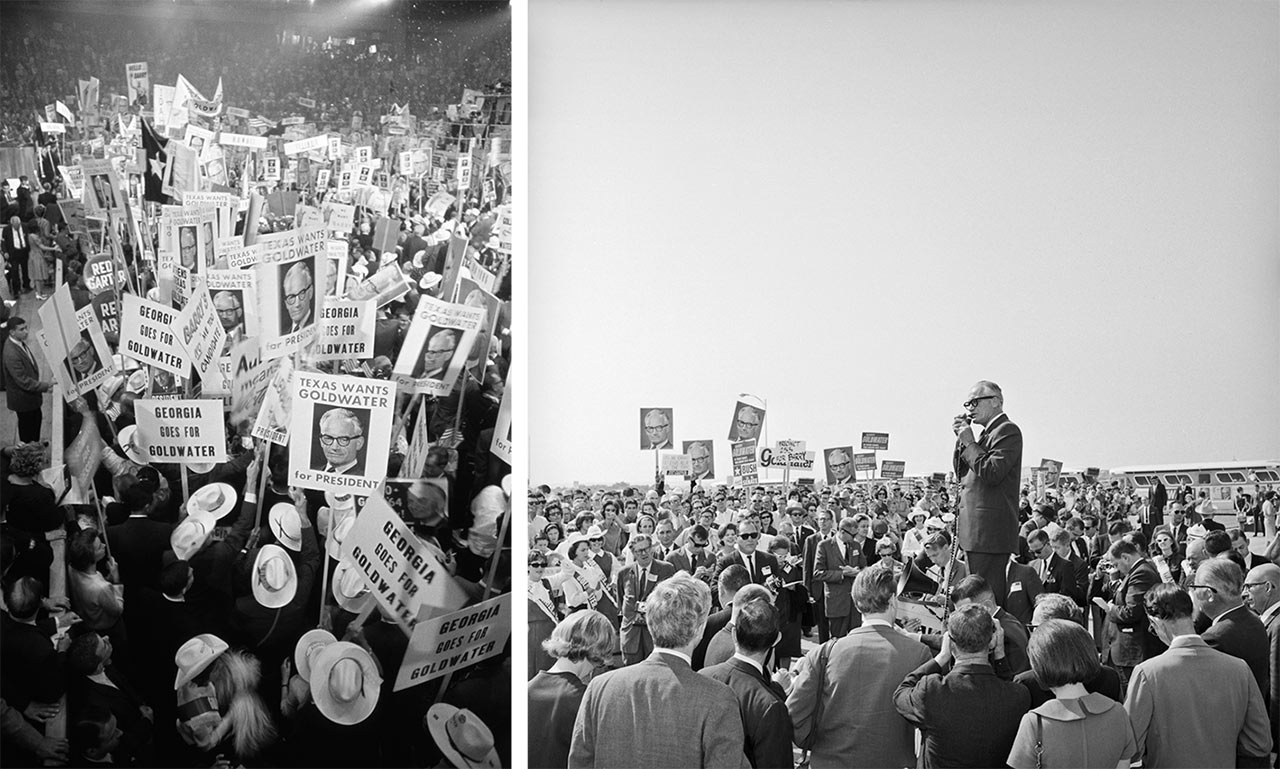 Barry Goldwater's loss paved the way for the modern day Republican Party. | Photos by Bettmann/Getty