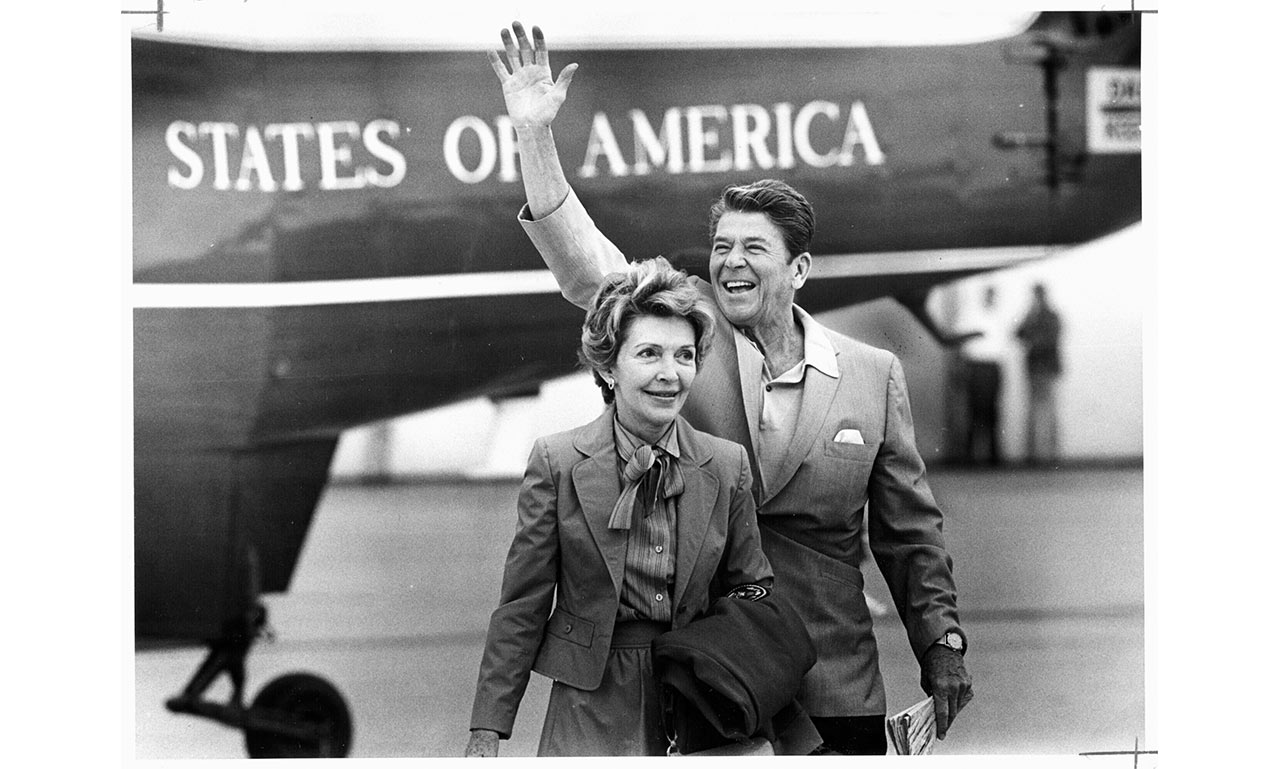 Reagan laid the groundwork for a staunchly conservative coalition built on a small government, a free market and religious values. | Photo by Joe Kennedy/Los Angeles Times/Getty