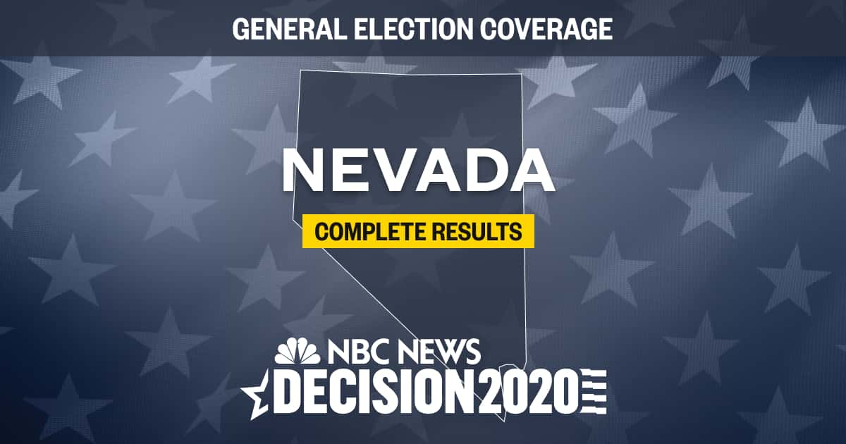 Nevada Election Results 2020 Live Results By County